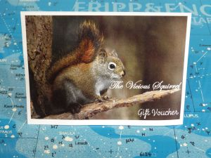 The Vicious Squirrel Gift Voucher - £10